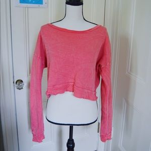 Coral Cropped BP sweater